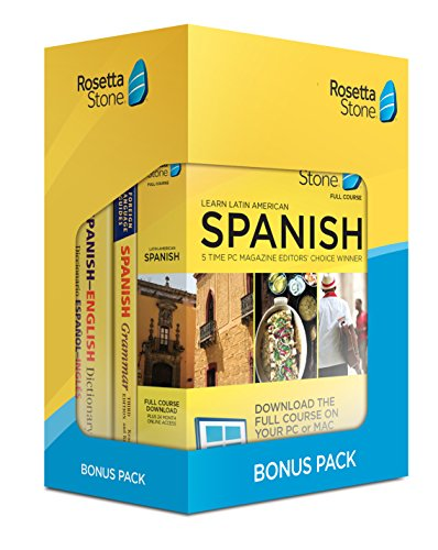 Software : Learn Spanish: Rosetta Stone Bonus Pack (24 Month Subscription + Lifetime Download + Book Set)