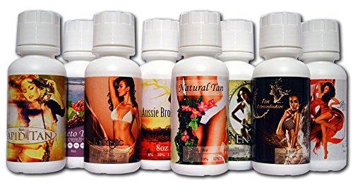 Tampa Bay Tan Solution Only Sample Pak - All Blends Dark, 8 oz each