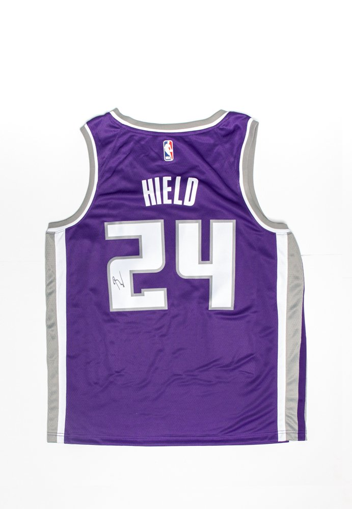 huge selection of 02f5d 48a75 Sacramento Kings Swingman Icon Jersey Autographed by Buddy ...