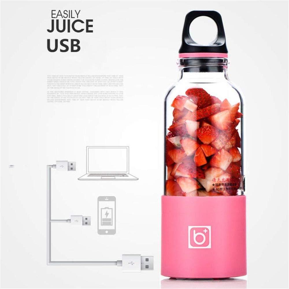 XSSD001 Exprimidor Portátil, USB Exprimidor Eléctrico Botella De Plástico Mezclador Automático De Hielo De Frutas Portátil Mini Mezclador De Jugo De Viaje ...
