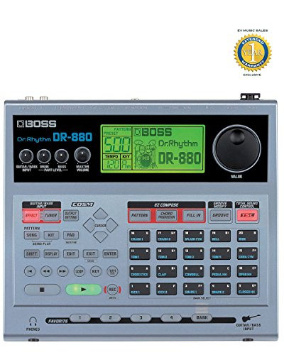 Boss DR-880 Dr. Rhythm Drum Machine with 1 Year Free Extended Warranty by BOSS