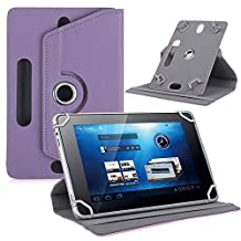 Hongfei 9 10 inch Tablet Stand Folio Case Rotating PU Leather Cover for Fire HD 10, iPad 9.7 2018/2017, iPad Pro 10.5/9.7, iPad 1/2/3/4, iPad Air/Air 2, Samsung Tab A/S/E (Purple)