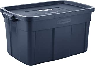 product image for Rubbermaid Roughneck️ Storage Totes 31 Gal Pack of 3 Durable, Reusable, Set of Large Storage Containers