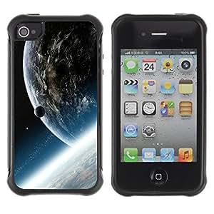 Be-Star único patrón Impacto Shock - Absorción y Anti-Arañazos Funda Carcasa Case Bumper Para Apple iPhone 4 / iPhone 4S ( Space Planet Galaxy Stars 33 )