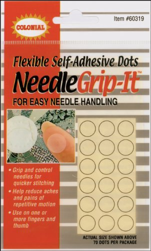 Colonial Flexible Self-Adhesive Needle Grip-It Dots (Package of 70)