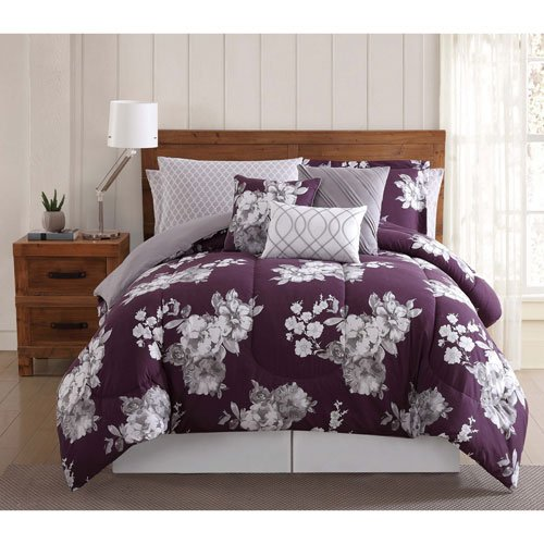 Style 212 12 Pieve Peony Bed Ensemble, Queen 10 Piece Set, Garden Floral (10 Piece Bedding Ensemble)