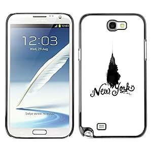 Be Good Phone Accessory // Dura Cáscara cubierta Protectora Caso Carcasa Funda de Protección para Samsung Note 2 N7100 // New York Chrysler White Black Empire