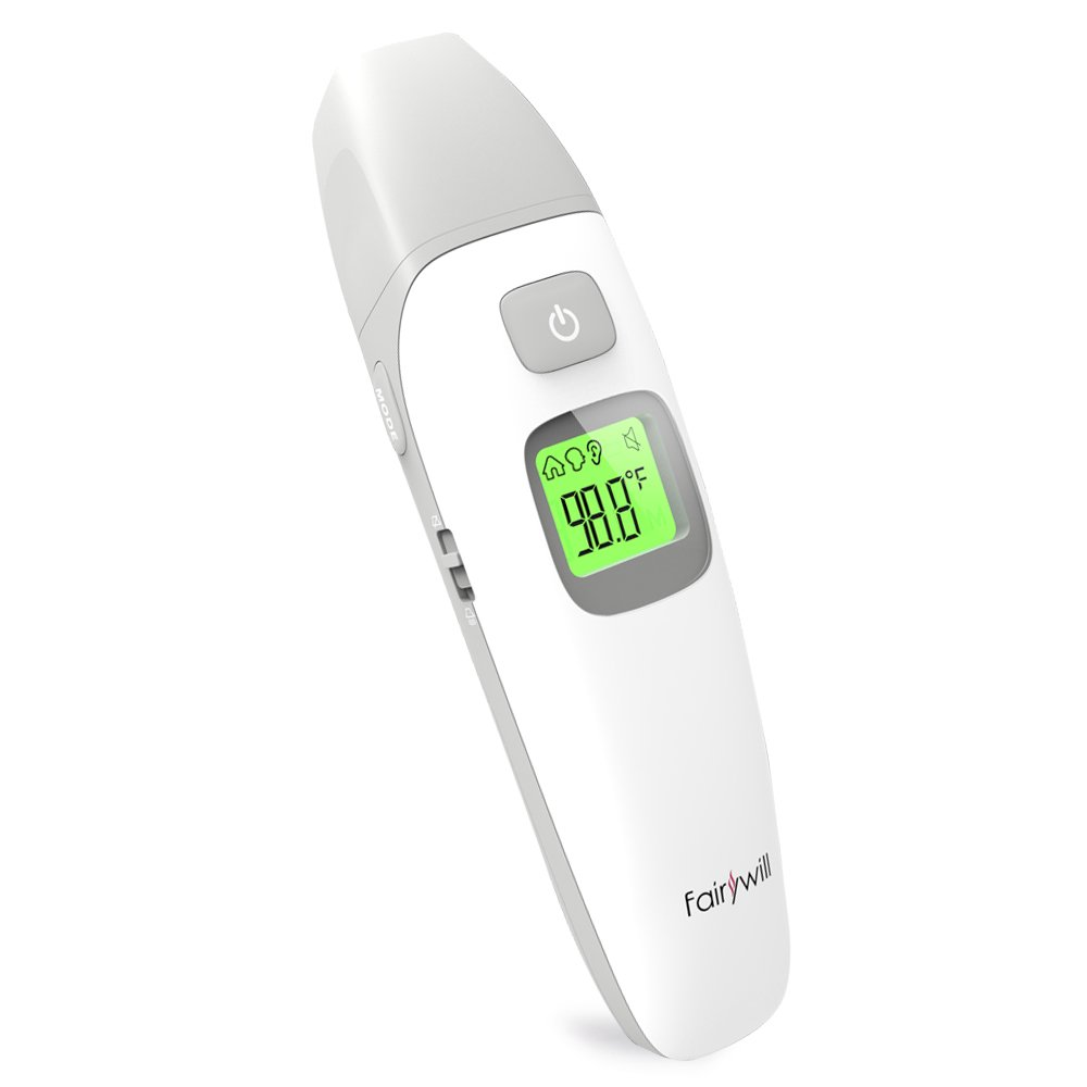 Fairywill Forehead and Ear Thermometer Digital Infrared for Baby Kids Adults Fever Warning Sound or Silent Option … …