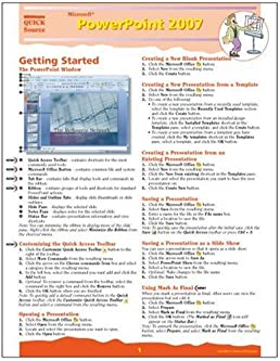microsoft powerpoint 2007 quick source reference guide quick source rh amazon com Quick Reference Guide Examples Quick Reference Guide Clip Art