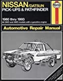 img - for Nissan/Datsun Pick-Ups and Pathfinder, 1980-1993 (Haynes Automotive Manuals, 771) book / textbook / text book