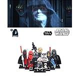 ABG TOYS 8 Minifigures STAR WARS Darth Sidious, Darth Nihilus, Red Guard, Kallus, Black R2-D2, Tie Fighter Pilot, Storm Trooper, Shadow Trooper Building Blocks Sets Toys