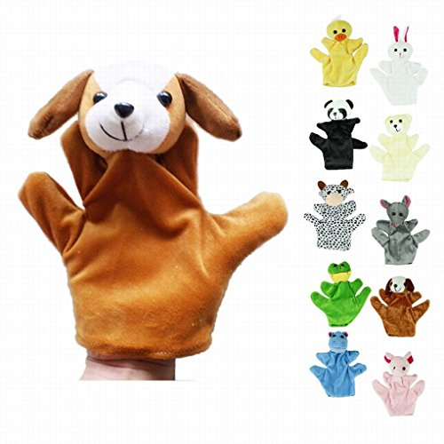 Honor2008 Newest Hot Sale Cute Big Size Animal Glove Puppet Hand Dolls Plush Toy Baby Child Zoo Farm Animal Hand Glove Puppet Finger Sack Plush Toy(Dog)