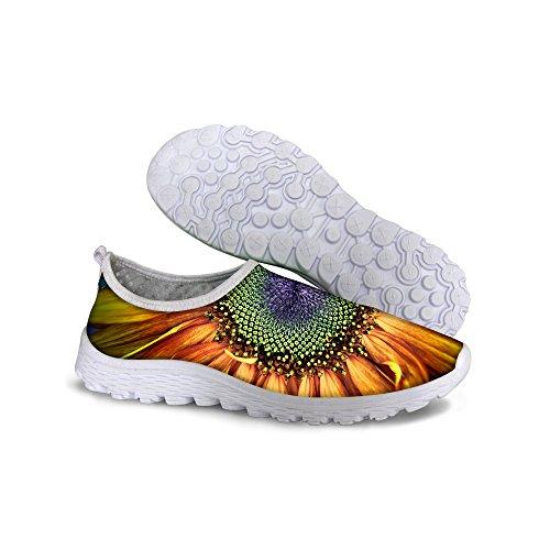 Para U Diseños Cómodo Deslizamiento En Malla Zapatos Para Correr Para Mujeres Girasol