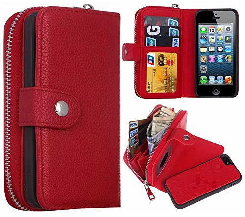 HYSJY Magnetic Detachable Leather ZIP Red product image