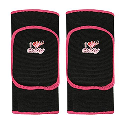 BabyPrice BYP Kids Knee Pads Sponge Pad with Hole for Sports Skate Skateboarding Dance Basketball (black(with hole), S)