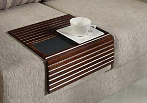 couchmaid table top solid wood sofa tray lap desk walnut hand crafted solid wood. Black Bedroom Furniture Sets. Home Design Ideas