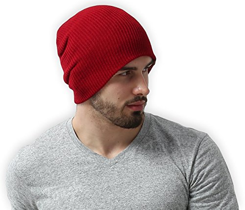 Daily Knit Ribbed Beanie by Tough Headwear - Warm, Stretchy & Soft Beanie Hats for Men & Women - Year Round Comfort - Serious Beanies for Serious Style