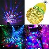 YJY Rotating Magic Disco Ball LED Light Bulb, Multicolor RGB Party Show ...