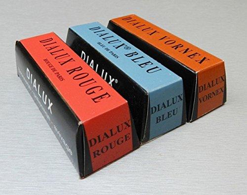 Dialux Metal Polishing Compound Red, Blue and Orange 4oz 1/4b