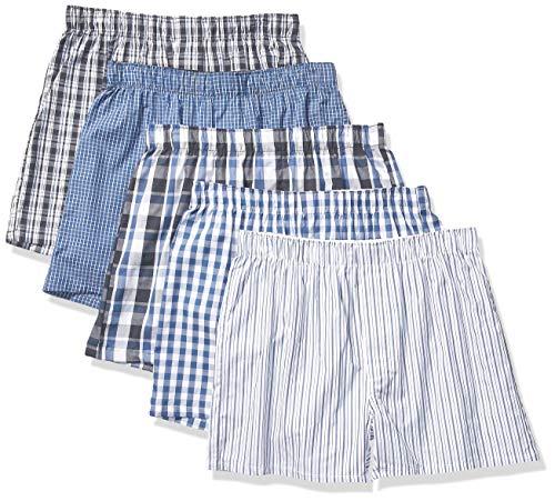 Amazon Essentials Men's 5-Pack Boxer Short, Blue Assorted, Medium (Best Man Boxer Shorts)