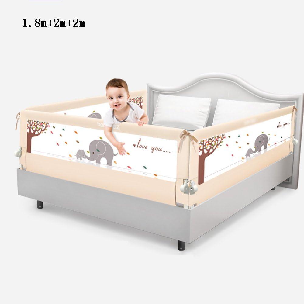 Valla seguridad infantil escalera Brisk- Cama Barandilla \ barandilla Cama para niños Combinación de barandas 3 vallas de cara \ camas Sombrilla Gran cama deflectora (Color : Beige-1.5m+2m+2m): Amazon.es: Hogar