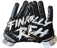 Battle Sports Finally Rich Receiver Gloves for Adults - Ultra-Tack Sticky Palm Pro-Style Gloves