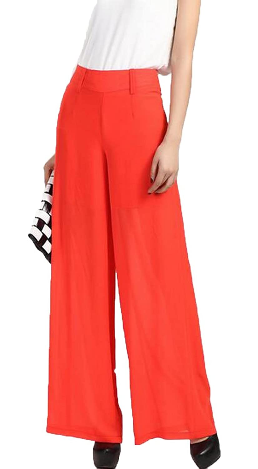 Generic Women's Stylish Accept Waist Western Trousers Palazzo Pants