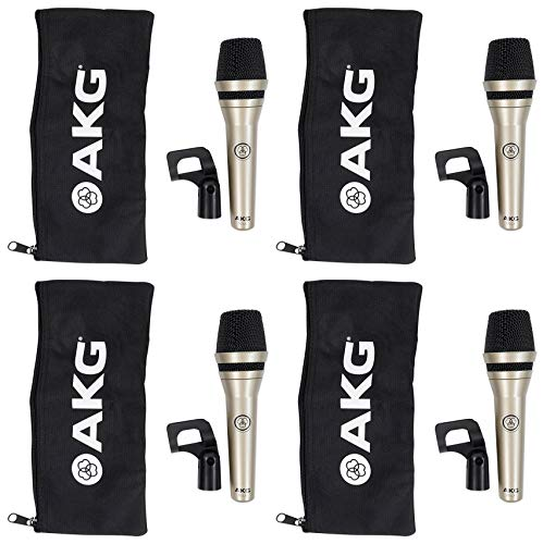 (4) AKG D5 LX Handheld Live Sound Vocal Microphones Dynamic Supercardioid ()