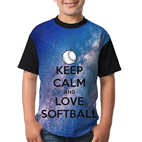 (Jinyimingpi Shirt Softball Game Youth Novelty Athletic Crew Printed Short Sleeve Tee Tops)