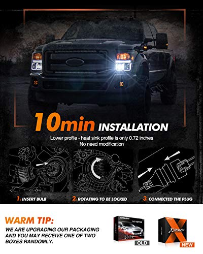 SEALIGHT H11/H8/H9 LED Headlight Bulbs X1 Series 12 CSP Chips 12000LM 6000K Xenon White Non-polarity