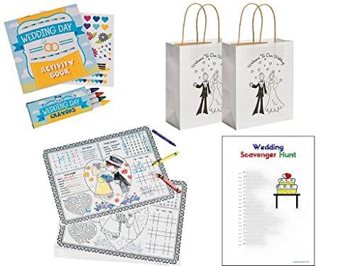 Wedding Activity Kits for Kids (12 Sets): Treat