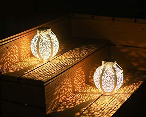 Outdoor Solar Lanterns 2 Pack Solar Lanterns Outdoor Waterproof Outdoor Decorations for Patio Solar Lanterns Outdoor