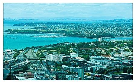 Nueva Zelanda Auckland y desde arriba ciudades Tourist Souvenir ...