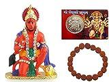 Creativegifts Idol for Car Dashboard Pooja Puja, Statues for Decoration (Hanuman)