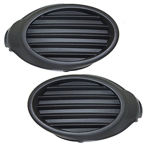 Pair Set Fog Light Lamp Lens Front Bumper Hole Cover Grille Inserts Replacement for 12-14 Ford Focus CP9Z17B814A CP9Z17B814B ()