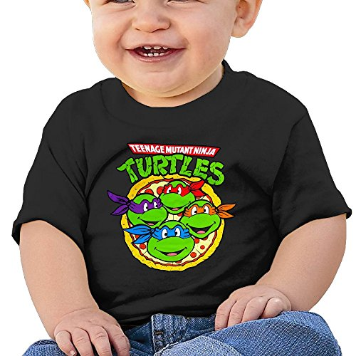 HZERUI Infants &Toddlers Baby's TMNT Pizza Party T-Shirt Black 18 Months For 6-24 (Ninja Turtle Baby Stuff)