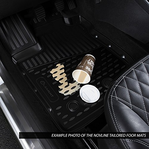 Novline MAT500 Custom Tailored Fit Black Rubber Floor Mats Set