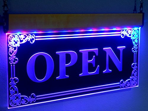 H005 Open LED light Sign Window Shop Display Bar Sign By
