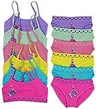 ToBeInStyle Girls 6 Pack Bras & Boyshorts Set Purple Princess - M