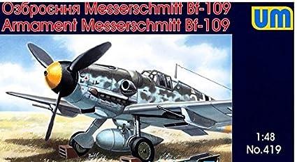 Amazon.com: Plástico Modelo alemán ME-109 Equipo de armas y ...