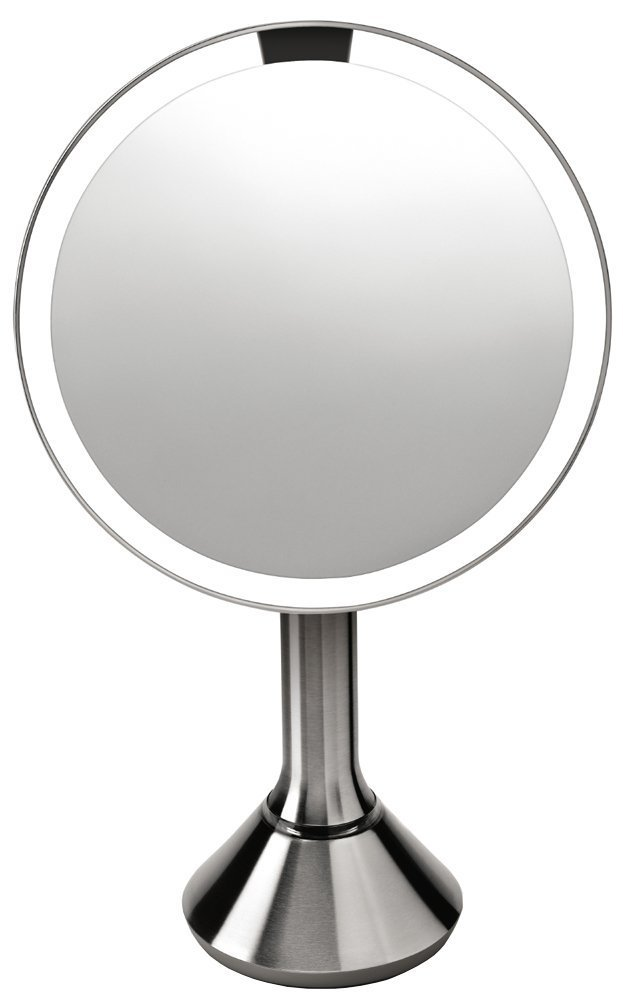 simplehuman 8 Inch Sensor Mirror, Lighted Makeup Vanity Mirror, 5x Magnification by simplehuman
