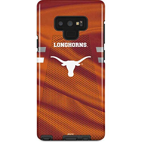 Skinit University of Texas at Austin Galaxy Note 9 Pro Case - Texas Longhorns Jersey Design - High Gloss, Scratch Resistant Phone Cover ()