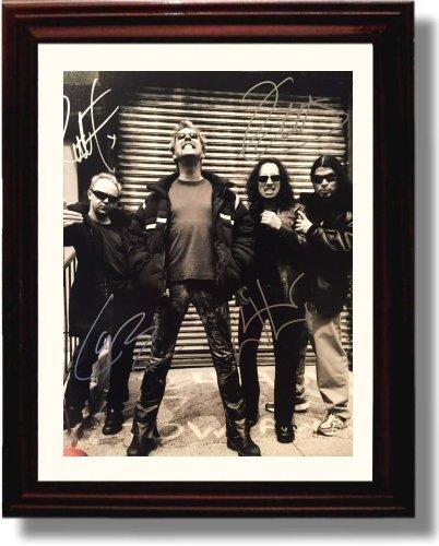Framed Metallica Autograph Replica - Autograph Poster