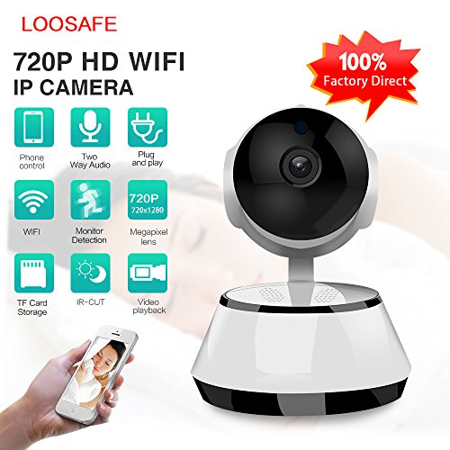 Camara Vigilancia Seguridad WIFI Mascotas, Bebes, Vision Nocturna, Two Way Audio