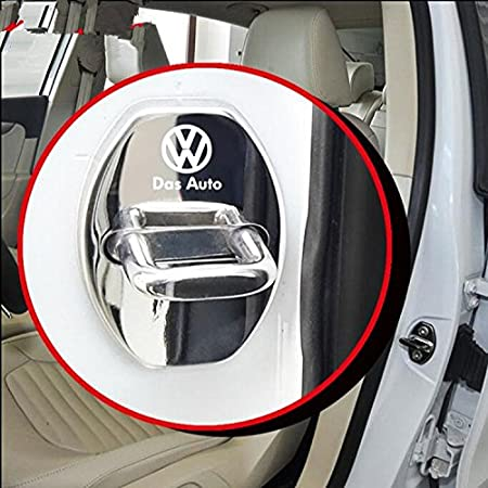 Bearfire 4pcs//lot New Arrival Stainless Steel Door Lock Decoration Cover Door Lock Cover Sticker For A1 A4 A5 A7 A8 Q3 AUDI A3 Q5 Car Styling Blue
