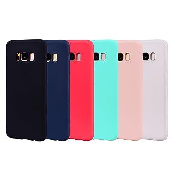 Leton 6X Funda para Samsung Galaxy S8, Carcasa Samsung S8 Silicona Ultrafina Case Suave Flexible TPU Funda S8 Samsung Ultra Delgado Caja Candy Jalea ...
