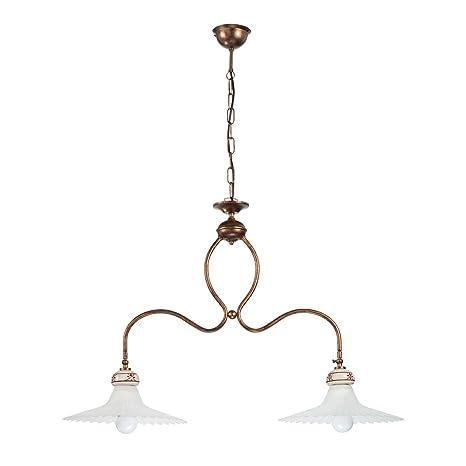 blanco Lámpara y de de de cristal Mamicolor hierro techo N0X8wnkOP