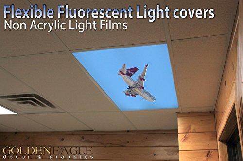 Jumbo Jet - 2ft x 4ft Drop Ceiling Fluorescent Decorative Ceiling Light Cover Skylight Film