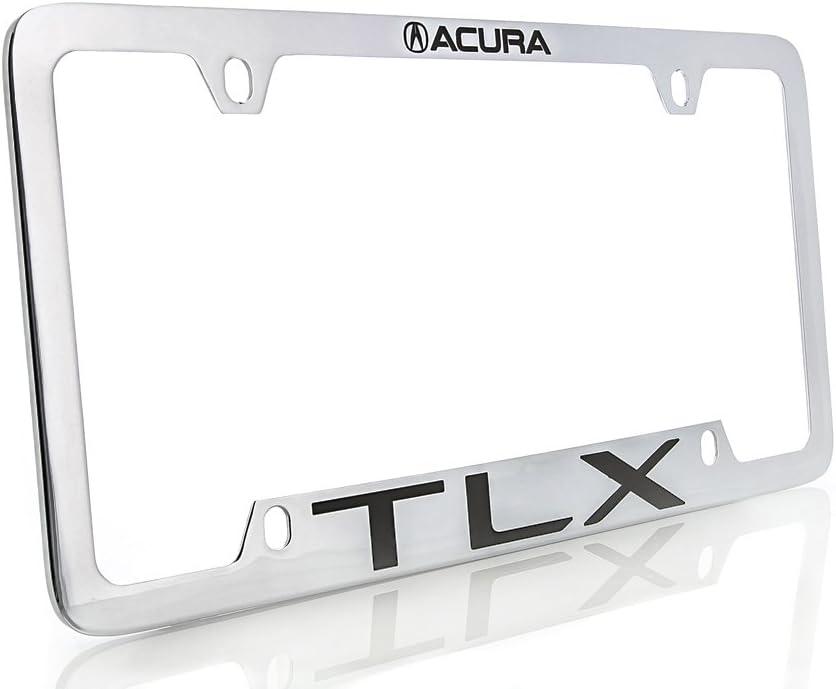 Acura TLX Wordmark Black Coated zinc Metal License Plate Frame Holder 2 Hole
