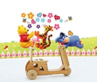 Winnie the Pooh and Friends on Grassfield Peel & Stick Wall Decals from Kappier